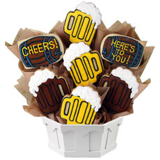 Beer Themed Cookie Bouquet | Birthday Gifts for Men | Cookies by Design