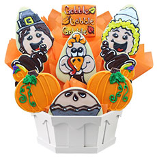 Gobble Gobble Cookie Bouquet | Cookies by Design