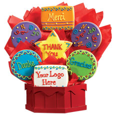 Cookie Bouquet Many Thanks with Custom Logo
