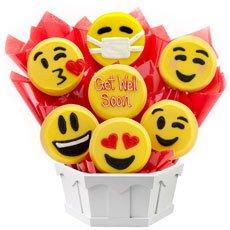 Get Well Cookie Emoji | Emoji Gift | Cookies by Design