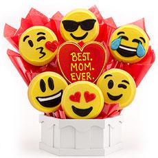 Best. MOM. Ever. Emoji Cookies | Valentine�s Day Bouquet | Cookies by Design