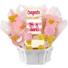 It's a Girl Cookies   Baby Shower Gift