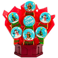 Christmas Snow Globes - Cookie Bouquet