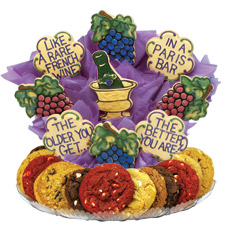 Like a rare French wine, this cookie bouquet is sure to shine at your next birthday party.Bring as a gift or display as a table decoration that turns into party favors.