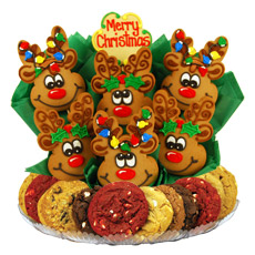 Christmas Reindeer Roundup Cookie BouTray