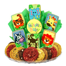 Animal Babies Cookie BouTray