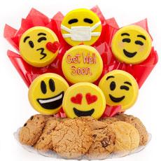 B446-GW - Sweet Emojis BouTray™-Get Well