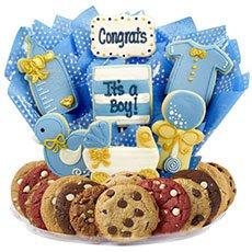 It's a Boy Gift Basket   Baby Boy Cookies