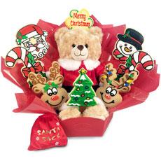 Build-A-Bear Merry Christmas Bouquet