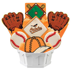 MLB Baltimore Orioles Cookie Bouquet