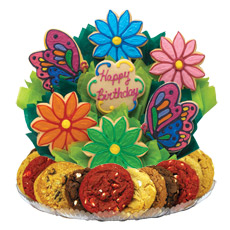 Butterfly and Daisy Birthday BouTray B249