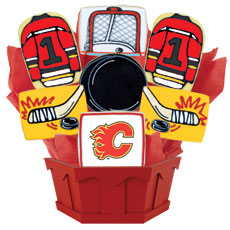 NHL Calgary Flames Cookie Bouquet