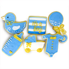 It's a Boy Cookies   Baby Shower Favors
