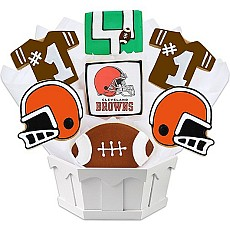NFL1-CLE - Football Bouquet - Cleveland