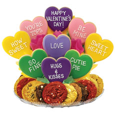 Valentines Gift Baskets   Heart Cookies
