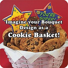 Perfect for a 40th or 50th birthday gifts, this �Older than Dirt� cookie bouquet, decorated in gray, black, and white icing, sends fun messages such as �Gravity Happens� and �I Demand a Recount.�