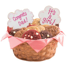 W364 - Congrats Dad, It's A Girl Basket
