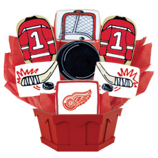 NHL1-DET - Hockey Bouquet - Detroit Red