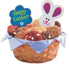 W308 - Easter Patchwork Bunnies Basket