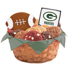 WNFL1-GB - Football Basket - Green Bay