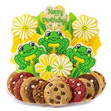 Birthday Frog Cookies