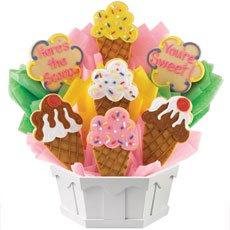 Ice Cream Cones Cookie Bouquet | Cookies by Design