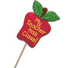 <b>Here's your chance to make a sweet impression!</b> This large apple-shaped sugar cookie makes a unique gift for any teacher or student, you can personalize your own cookie message!<br>