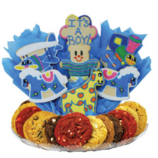Baby Boy Gift Baskets | Baby Shower Cookies | Cookies by Design