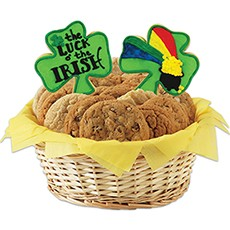 Luck O' The Irish Cookie Basket
