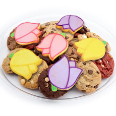 TRY29 - Mom's Tulip Blossoms Cookie Tray