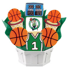 NBA1-BOS - Pro Basketball Bouquet - Boston