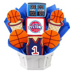 NBA1-DET - Pro Basketball Bouquet - Detroit