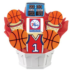 NBA1-PHI - Pro Basketball Bouquet - Philadelphia