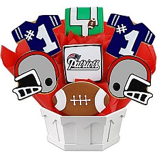 NFL1-NE - Football Bouquet - New England