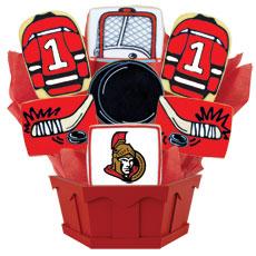 NHL Ottawa Senators Cookie Bouquet