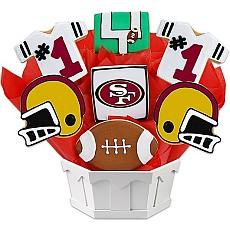 NFL San Francisco 49ers Cookie Bouquet