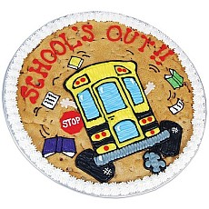 School's Out Cookie Cake