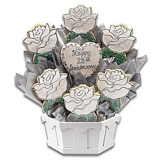Cookie Bouquet Silver Anniversary
