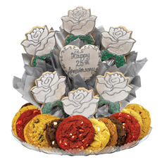 Silver Anniversary Cookie BouTray