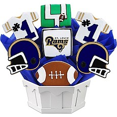 NFL1-STL - Football Bouquet - St. Louis