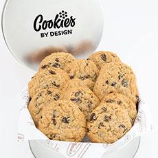 TIN12-OAT - Tin of One Dozen Oatmeal Raisin Gourmet Cookies