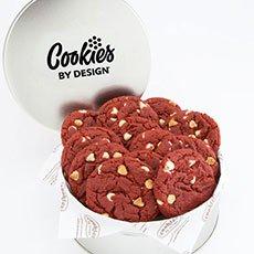 Red Velvet Cookies in a Tin - One Dozen