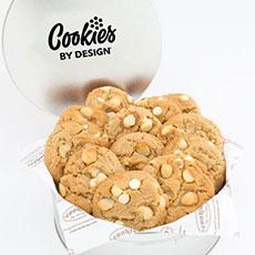 Gourmet White Chocolate Macadamia Cookie Tin (12)