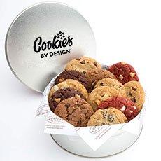 Gourmet Cookie Tin   Dozen Assorted Cookies