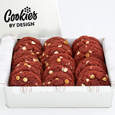 TIN24-RV - Tin of Two Dozen Red Velvet Gourmet Cookies