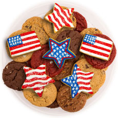 Stars and Stripes Cookie Tray