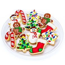 Cookies for Santa Tray | Decorated Cookies