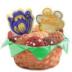 Flower Cookies   Birthday Cookie Basket