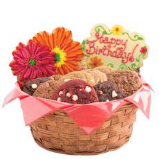 Birthday Flower Cookie Basket