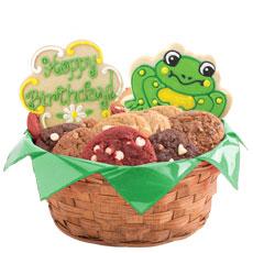 Frog Birthday Cookie Basket